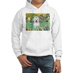 Irises / Coton Hooded Sweatshirt