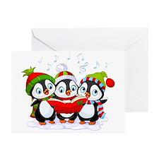 Caroling Christmas Penguins (pk Of Greeting Cards