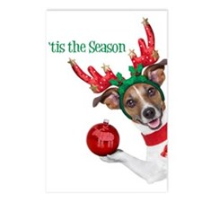 Funny Christmas Dog Postcards (package Of 8)