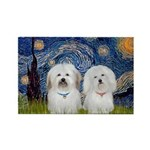 Starry / Coton Pair Rectangle Magnet (10 pack)