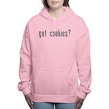 got cookies black.psd Women's Hooded Sweatshirt