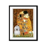The Kiss / Coton Framed Panel Print