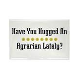 Hugged Agrarian Rectangle Magnet