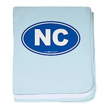 North Carolina NC Euro Oval baby blanket