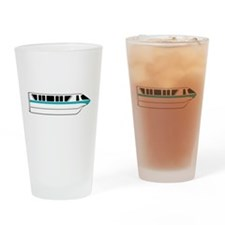 Monorail Teal Drinking Glass
