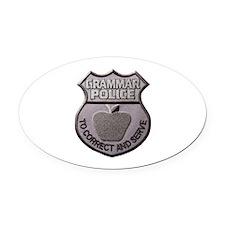 Grammar Police Oval Car Magnet