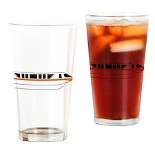 Monorail Orange Drinking Glass