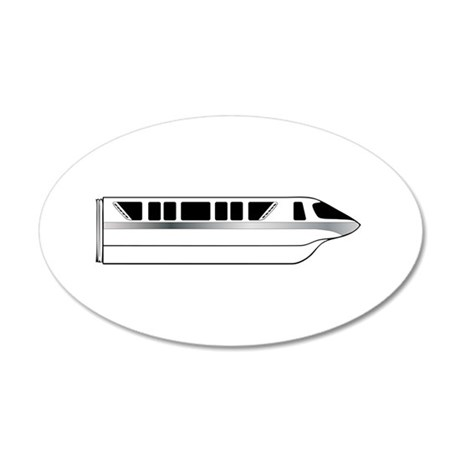 Monorail Silver 35x21 Oval Wall Decal