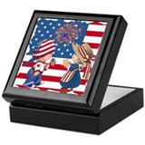 American Boy and Girl Keepsake Box