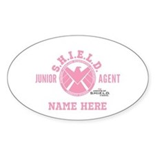 Pink Personalized Junior SHIELD Age Decal
