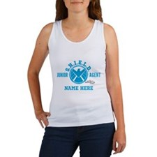 Blue Personalized Junior SHIELD A Women's Tank Top