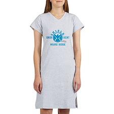 Blue Personalized Junior SHIELD Women's Nightshirt