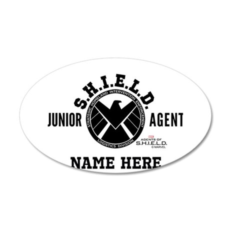 Personalized Junior SHIELD A 20x12 Oval Wall Decal