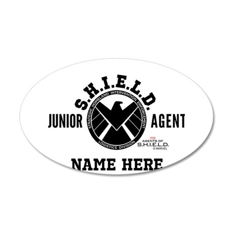 Personalized Junior SHIELD A 35x21 Oval Wall Decal