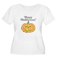 Jack o lantern pumpkin face carving Plus Size T-Sh