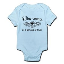 Wine counts as a serving of fruit Body Suit
