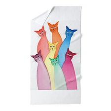Unique Fun cat lover Beach Towel