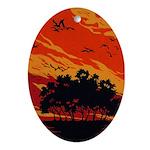Sunset Oval Ornament