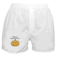 Jack o lantern pumpkin face carving Boxer Shorts