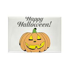 Jack o lantern pumpkin face carving Magnets