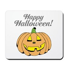 Jack o lantern pumpkin face carving Mousepad