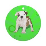 Pop Art Pet Round Ornament