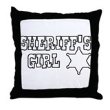 Sheriff's Girl Color Me Throw Pillow