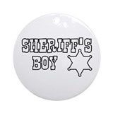 Sheriff's Boy Color Me Ornament (Round)