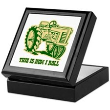 This Is How I Roll Tractor GRN Keepsake Box