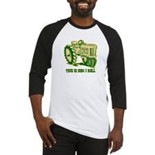 This Is How I Roll Tractor GRN Baseball Jersey