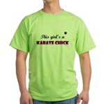 This Girl's A Karate Chick (Grape) Green T-Shirt