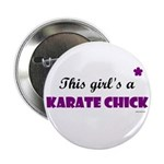 This Girl's A Karate Chick (Grape) Button