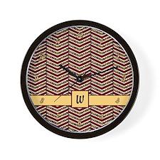 Leopard Print Chevron Wall Clock