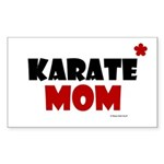 Karate Mom 1 (Cinnamon) Rectangle Sticker