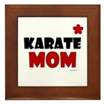 Karate Mom 1 (Cinnamon) Framed Tile
