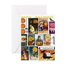 Halloween Vintage Greeting Card Collage Greeting C