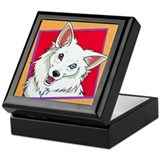 Blue Eyed Eskie Keepsake Box
