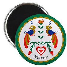 Distlefink Welcome Hex Magnet