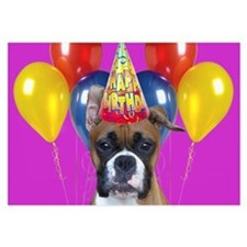 Birthday Boxer puppy Invitations