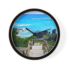 Church Bay Bermuda Tropical Beach Wall Clock