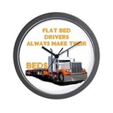 Flat Bed Drivers Wall Clock