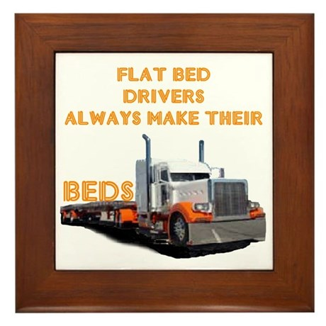 Flat Bed Drivers Framed Tile