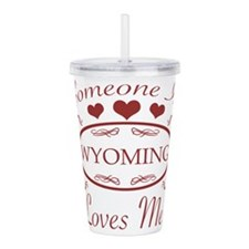 Somebody In Wyoming Lo Acrylic Double-wall Tumbler