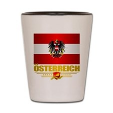 Austrian Flag & COA Shot Glass