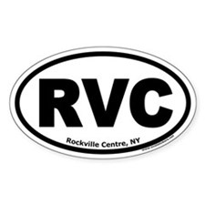 "Rockville Centre, NY ""RVC"" Oval Decal"