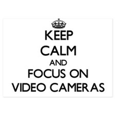 Keep Calm by focusing on Video Cameras Invitations