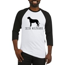 Irish Wolfhound w/ Text #2 Baseball Jersey