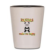 Pandas Make Me Happy Shot Glass