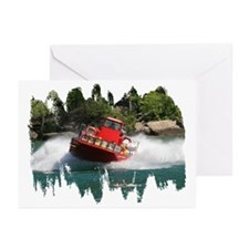 Whirlpool Jet Boat Greeting Cards (Pk of 10)