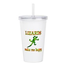 Lizards Make Me Happy Acrylic Double-wall Tumbler